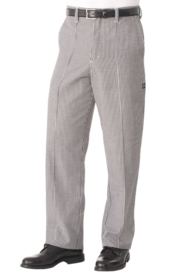 kitchen pants used commercial equipment chicago poly cotton chef small check s uniform
