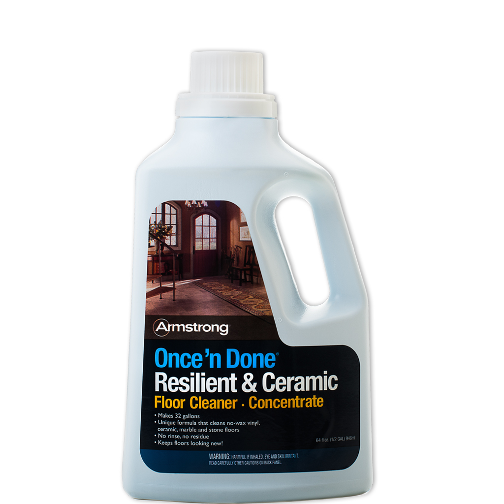 armstrong once n done no rinse floor cleaner concentrate 64 oz
