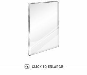 Acrylic Wall Mount with Flush Top or Mounting Holes
