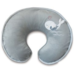 Boppy Baby Chair Bumbo Age Pillow With Luxe Slipcover Gray Whales