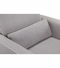 Davinci Olive Swivel Glider with Ottoman - Grey / Cream