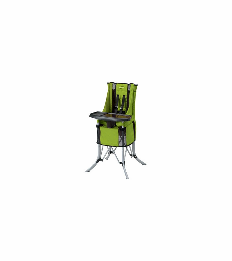 evenflo compact high chair with side table babygo travel - lemonade