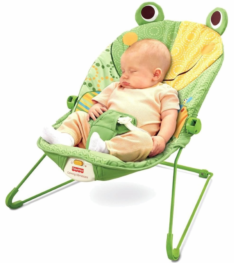 FisherPrice Baby Infant Bouncer Seat Chair in Frog Green