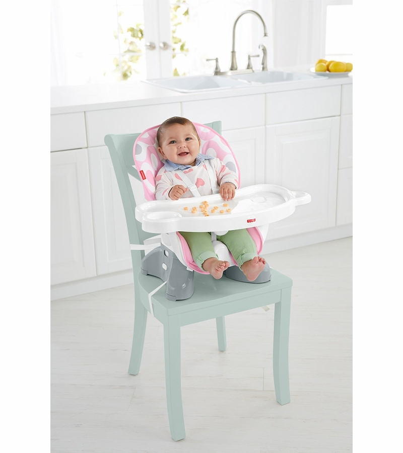 fisher price spacesaver high chair covers wedding west midlands fisher-price - pink ellipse