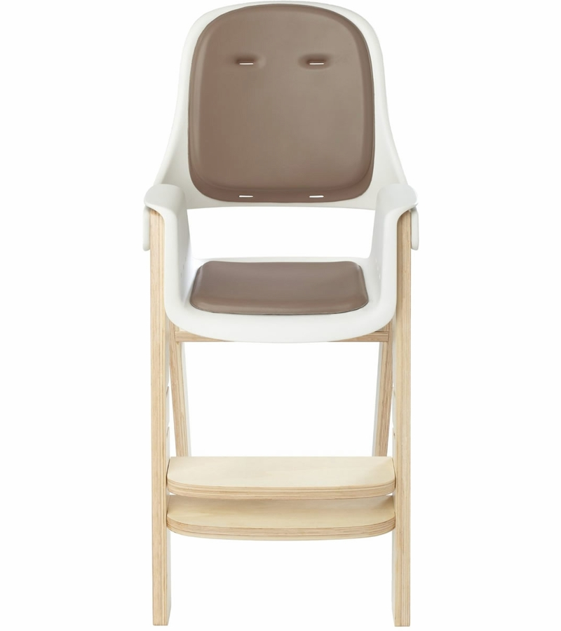oxo tot sprout high chair outdoor papasan cushion cover - orange/walnut