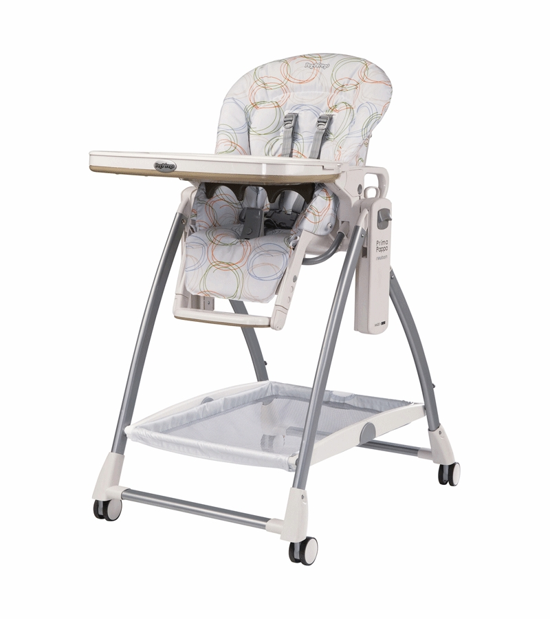Peg Perego 2010 Prima Pappa Newborn High Chair In Circles