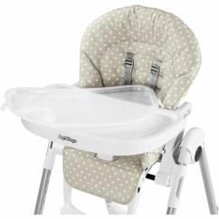 3 In 1 Potty Chair Fur Cover Peg Perego Prima Pappa Zero High - Baby Dot Beige