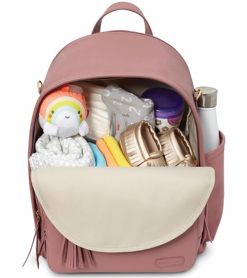 Skip Hop Greenwich Simply Chic Backpack  Dusty Rose