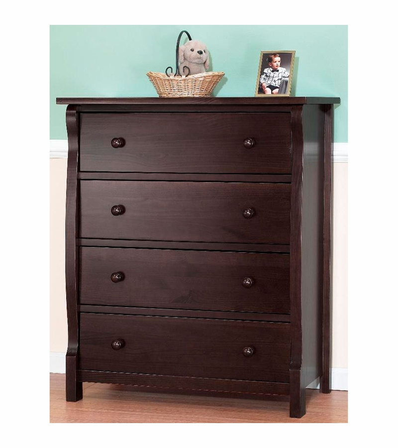 Sorelle Tuscany 2 Piece Nursery Set in Espresso  Crib  4 Drawer Dresser