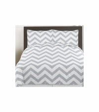 Sweet JoJo Designs Gray & White Chevron Twin Bedding Set