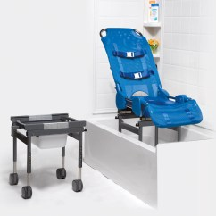 Transfer Shower Chair Silk Upholstered Columbia Medical Ultima Access Bath With Compact