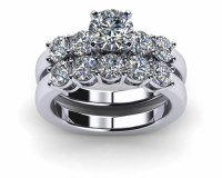 engagement-rings-wedding-sets-platinum-common-prong-five ...