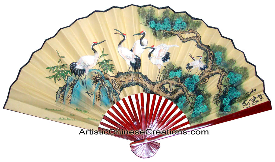 Chinese Wall Fans, Chinese Wall Decor, Chinese Paper Fans