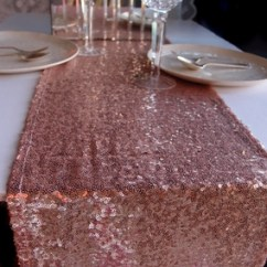 Fast Table Chair Covers For Bridal Shower Sequin Runner - Copper (12 X 108)