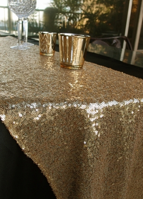 chair covers decorations wedding cover hire bristol sequin table runner - gold (12 x 108)
