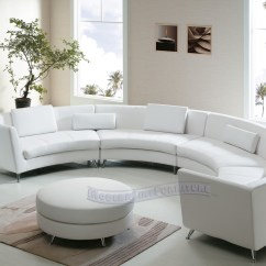 Extra Large Round Sofa One Cushion Leather Sofas Modern Line Furniture Commercial Custom Made