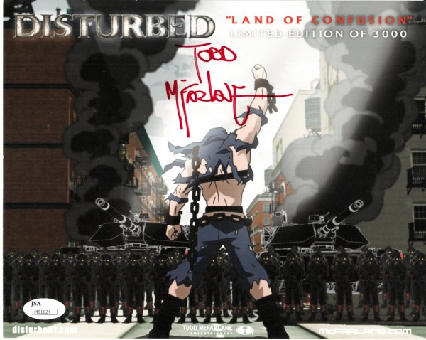 Todd Mcfarlane Autographed Disturbed Land Of Confusion