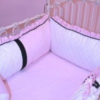 little bunny blue chanel crib bedding set