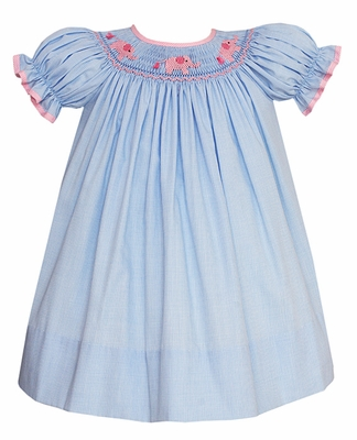ff34aff63 √ Petit Bebe by Anavini Baby   Toddler Girls Blue Check