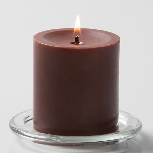 3in Pillar Candles Brown