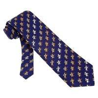 Horse Blue Silk Tie Necktie Men's Animal Print Win Place ...