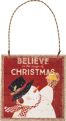 Christmas Ornament Believe In The Magic Of Christmas
