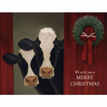 Lang Boxed Christmas Cards Holiday Cows Artist