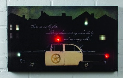 Lighted Canvas Pictures Police Car