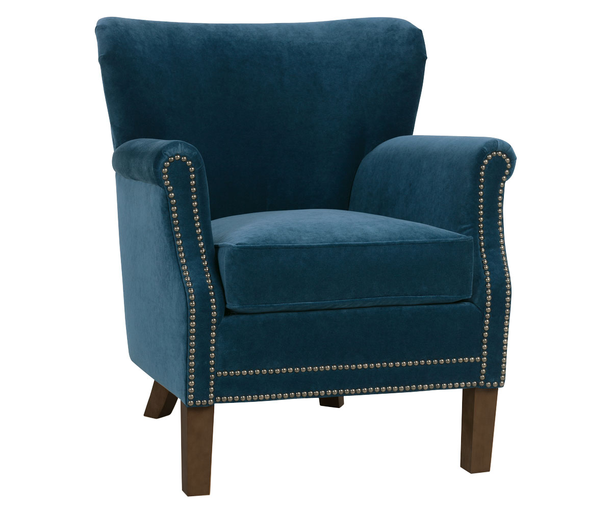 Small Accent Chairs Small Fabric Upholstered Tight Back Accent Chair Club