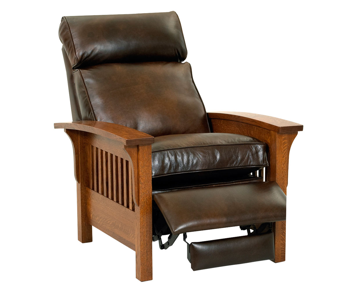 mission recliner chair plans ergonomic keyboard tray aldrich leather club furniture