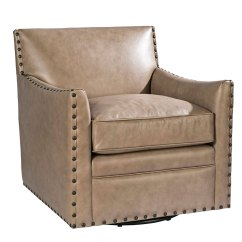 Transitional Accent Chairs Chair Covers Rentals Online Leather Swivel Club Furniture