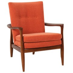 Contemporary Accent Chairs With Arms Upholstered Arm Mid Century Modern Fabric Chair Wood Frame