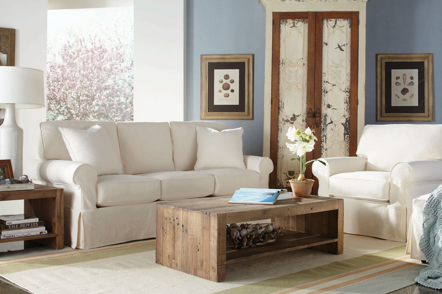 chair and ottoman slipcover set global upholstery 69a7019 christine collection quotquick ship quot 3 piece