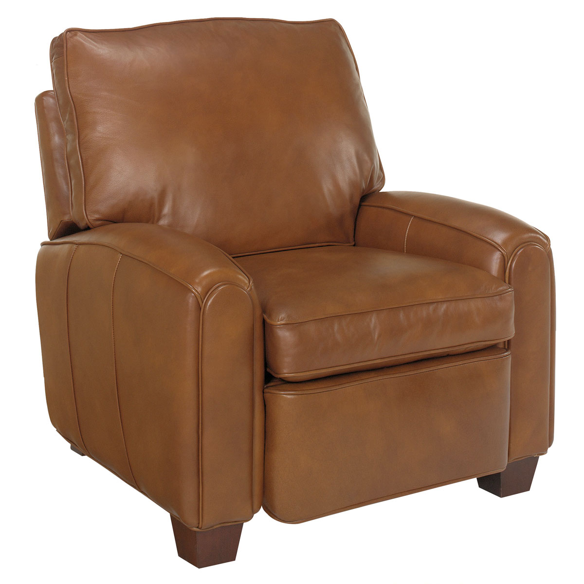 Pillow Back Transitional Leather Reclining Club Chair