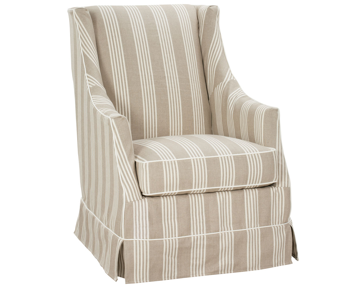 bedroom chair with skirt adirondack rocking small skirted slipcovered accent club furniture