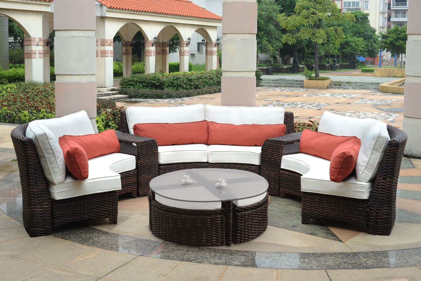 resin wicker lounge chairs sale walmart executive chair fiji curved outdoor patio sectional clubfurniture.com