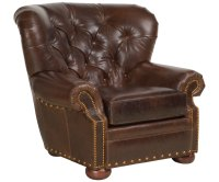 Tufted Leather Club Armchair