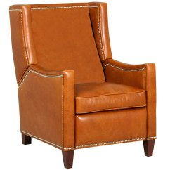 Wing Back Chair Recliner Round Farmhouse Table 6 Chairs Heywood With Nailhead Trim Leather