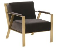 Modern Fabric Accent Chair With Gold Metal Frame | Club ...
