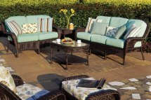Luana Outdoor Resin Wicker Patio Furniture Set