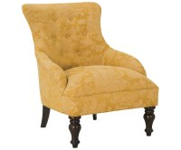 Traditional Button Tufted Armless Accent Chair With ...