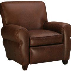 Recliner Club Chair Silver Office Manhattan Style Leather Furniture