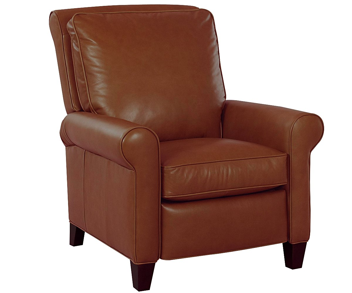 leather cigar chair camping folding perry pillow back recliner recliners