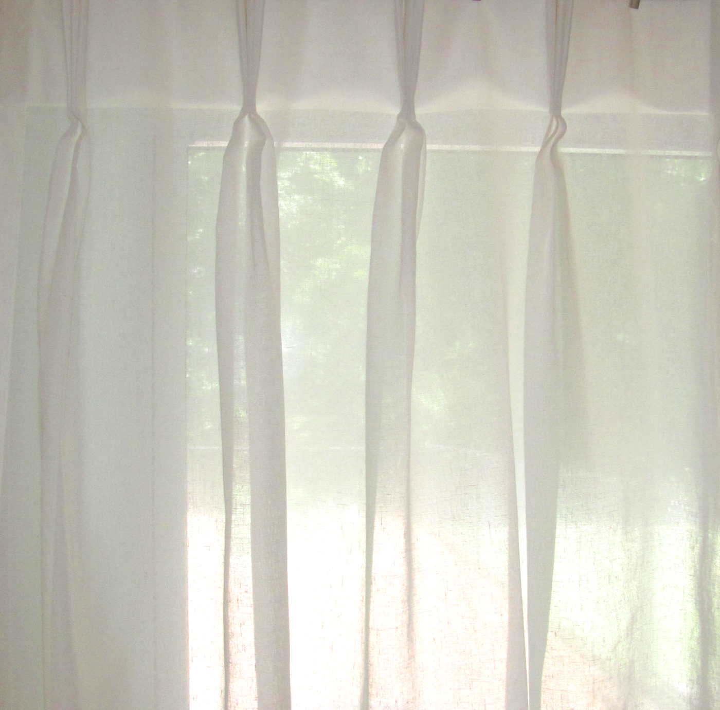 Faux Linen Pinch Pleated Sheers 3 To 1 Fullness