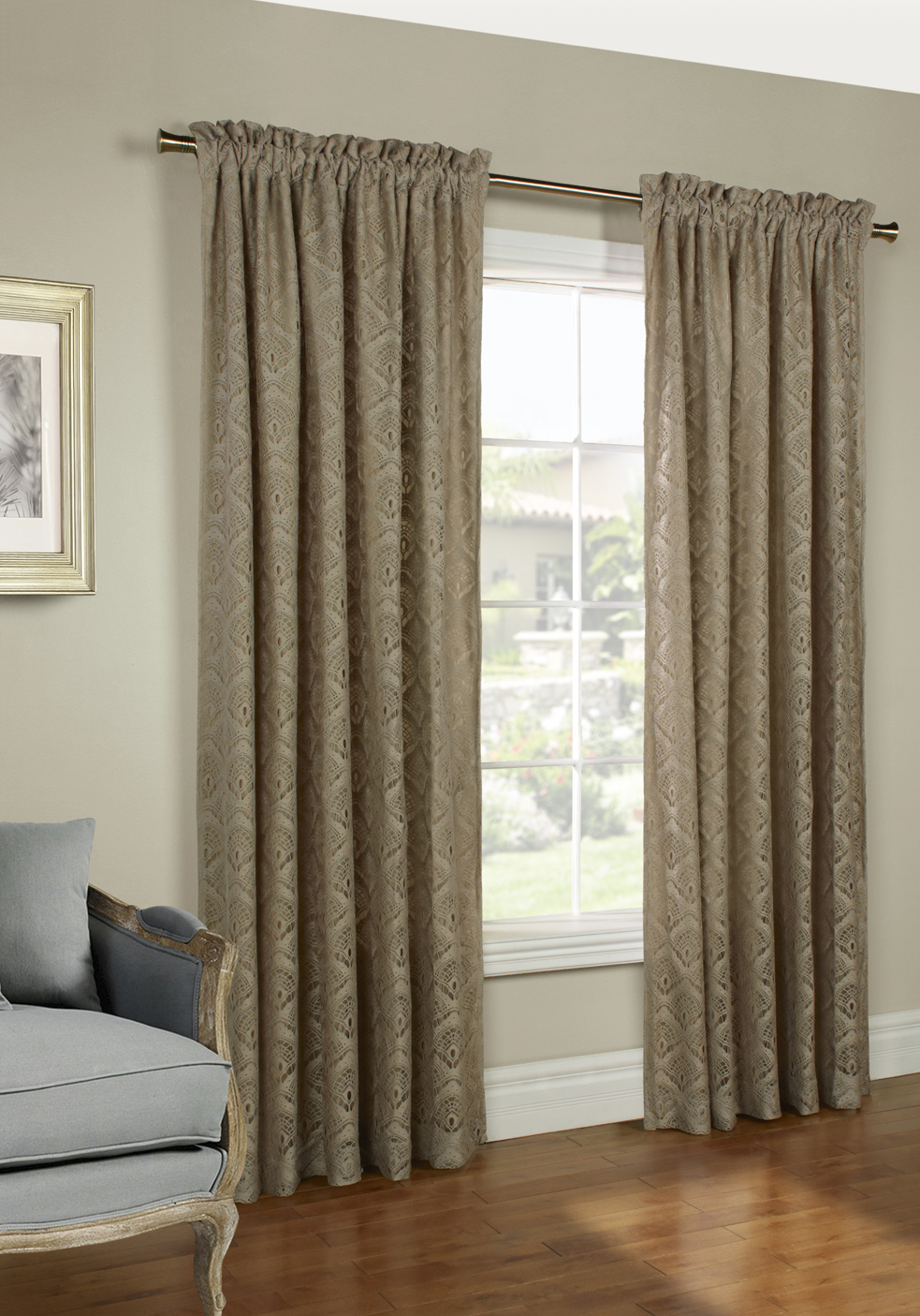 curtains lace patterned floral