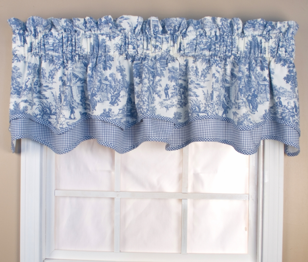 blue chair pads folding with shade victoria park toile bradford valance - thecurtainshop.com