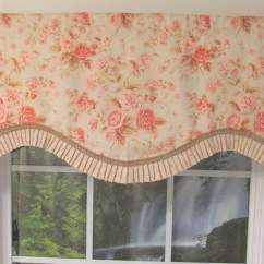 Rocking Chair Cushion Pattern Wedding Covers Doncaster Shabby Chic Pink Cornice Valance - Thecurtainshop.com