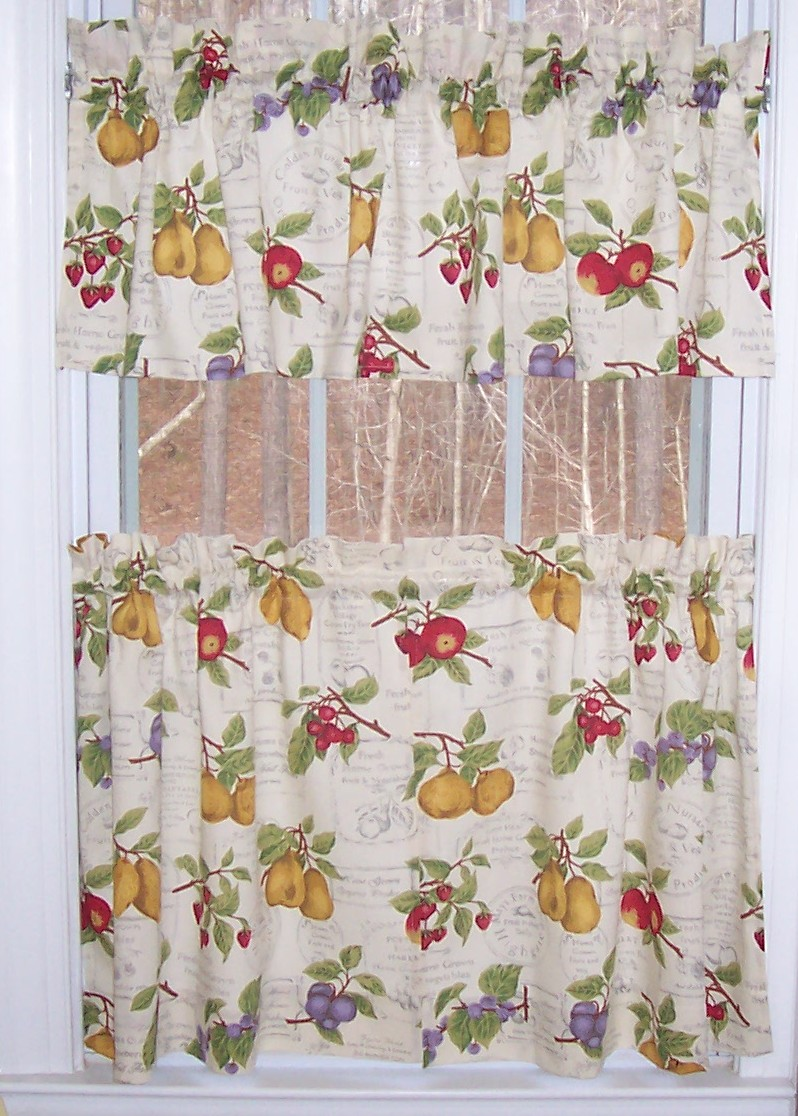fruit kitchen curtains country table sets