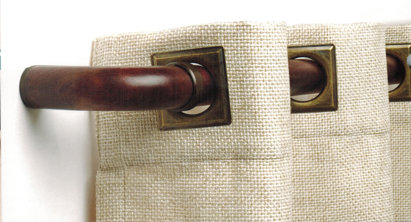 curved french return elbows pair for 1 3 8 diameter wood rod select