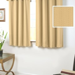 Grommet Kitchen Curtains Decorated Kitchens 45 Inch Long Thecurtainshop Com